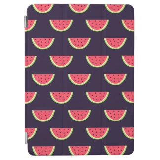 Neon Watermelon on Purple Pattern