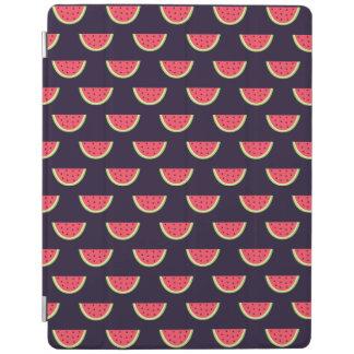 Neon Watermelon on Purple Pattern iPad Cover