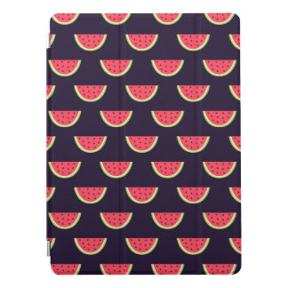 Neon Watermelon on Purple Pattern iPad Pro Cover