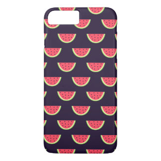 Neon Watermelon on Purple Pattern iPhone 8 Plus/7 Plus Case