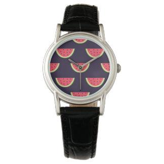 Neon Watermelon on Purple Pattern Watch