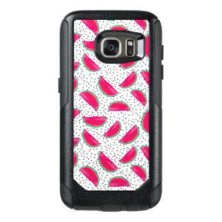 Neon Watermelon on Seeds Pattern OtterBox Samsung Galaxy S7 Case