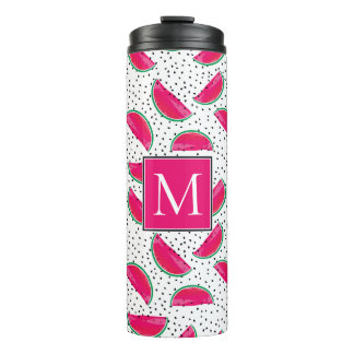 Neon Watermelon on Seeds Pattern Thermal Tumbler