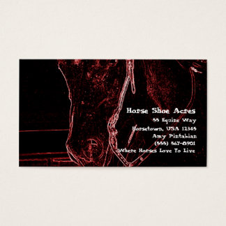 Neon Western Horse Business Card
