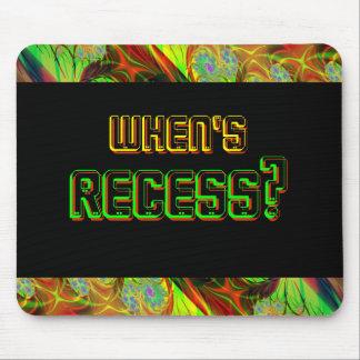 Neon When s Recess Mousepad