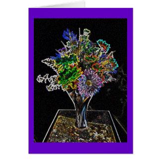 Neon Wildflowers Note Card