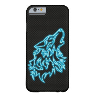 Neon Wolf Iphone Case modern carbon fiber BG
