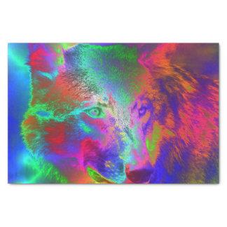 NEON wolf Tissue Paper