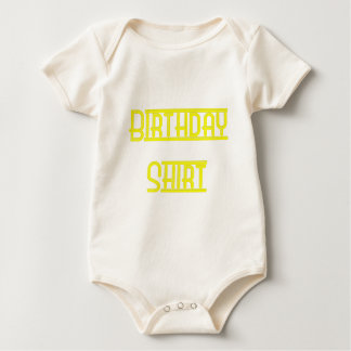 Neon Yellow Birthday Shirt