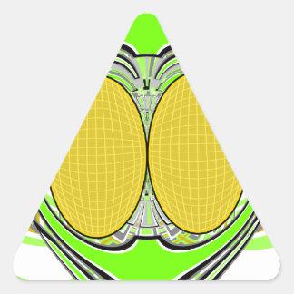 Neon yellow green superfly design triangle sticker