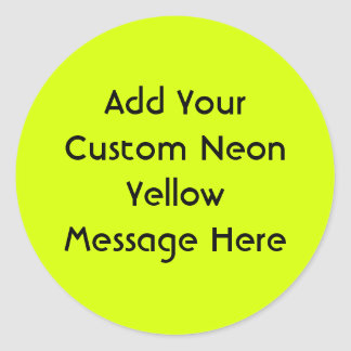 Neon Yellow, High Visibility Round Sticker