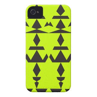 Neon Yellow Minimal Tribal iPhone 4 Cover