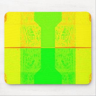 Neon Yellow Orange Green Mouse pad