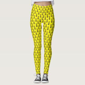 Neon yellow pineapple print Leggings