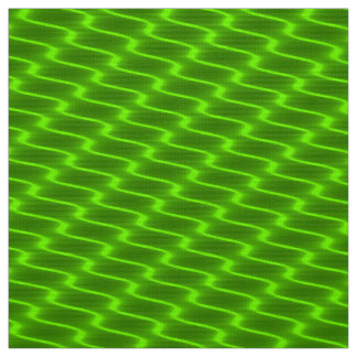 Neon Yellow Wavy Lines Fabric Pattern