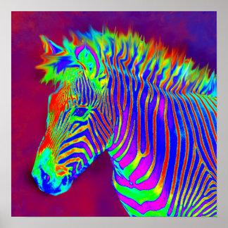 neon zebra-closeup print