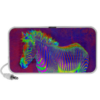 neon zebra speaker