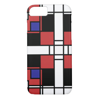 Neoplasticism symmetrical pattern in crimson red iPhone 7 case