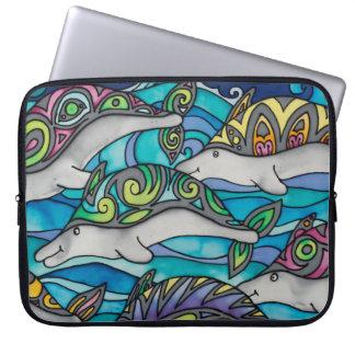 "Neoprene 15"" Laptop Sleeve: Dolphin Series Laptop Sleeve"