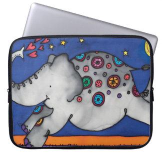"Neoprene 15"" Laptop Sleeve: Elephant Series Laptop Sleeve"