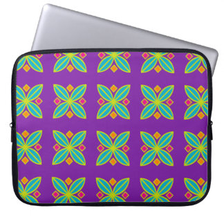 Neoprene abstract geometric laptop sleeve