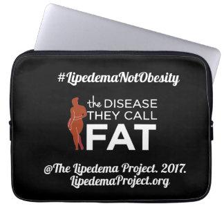 Neoprene computer sleeve The Disease they Call Fat