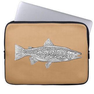 Neoprene small pocket Fario Trout Laptop Sleeve