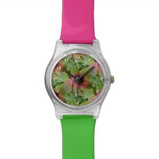 Neoregelia Bromeliad 'Tossed Salad' Wristwatch