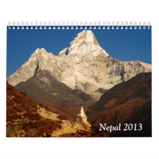 Nepal 2013 wall calendar