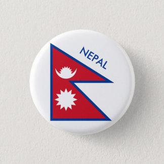 nepal 3 cm round badge