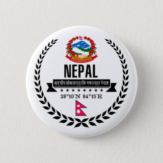 Nepal 6 Cm Round Badge
