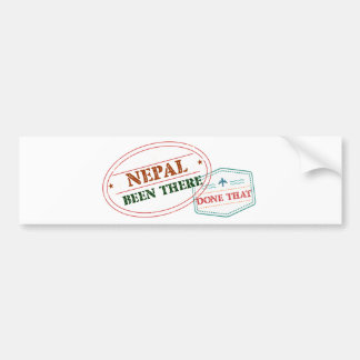 Nepal Been There Done That Bumper Sticker