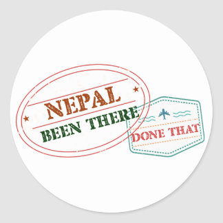 Nepal Been There Done That Classic Round Sticker