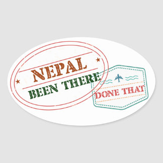 Nepal Been There Done That Oval Sticker