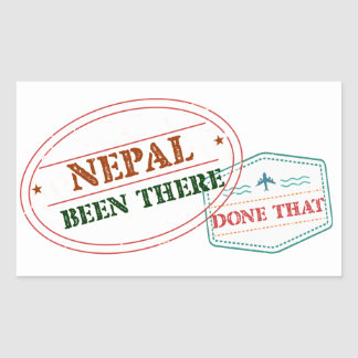 Nepal Been There Done That Rectangular Sticker