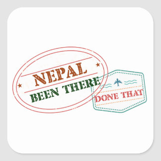 Nepal Been There Done That Square Sticker