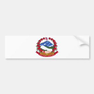 Nepal Coat of Arms Bumper Sticker