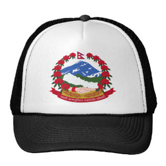 Nepal Coat of Arms Trucker Hats