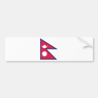 Nepal Flag Bumper Sticker