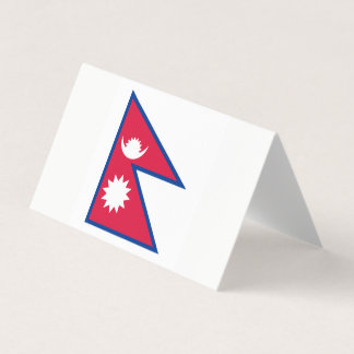 Nepal Flag Business Card