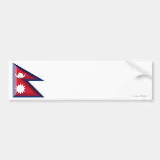 Nepal Flag Jewel Bumper Sticker