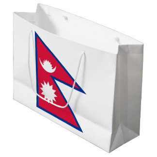 Nepal Flag Large Gift Bag