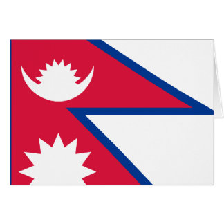 Nepal Flag Note Card