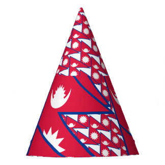 Nepal Flag Party Hat