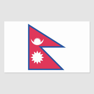 Nepal Flag Rectangular Sticker
