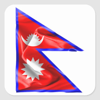 Nepal Flag Square Sticker