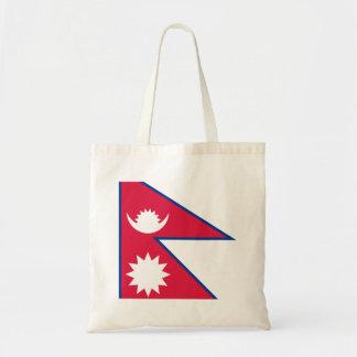 Nepal Flag Tote Bag