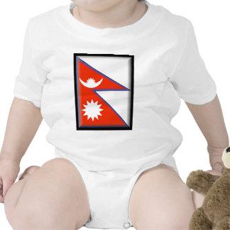 Nepal Flag Baby Creeper