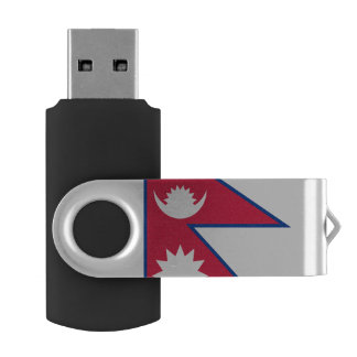 Nepal Flag USB Flash Drive