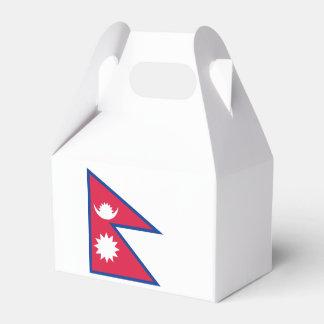 Nepal Flag Wedding Favour Boxes